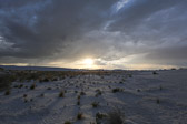 Image of the sun setting from White Sands National Monument in Alamogordo, New Mexico