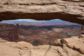 View under Mesa arch in Canyonlands National Park
