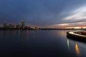 Skyline of Boston, Massachusetts at dusk