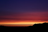 Majestic hues in a southern Californian sunset from Griffith Observatory in Los Angeles in California.