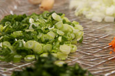 Finely slices green onions