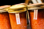 Homemade apricot and persimmon jam