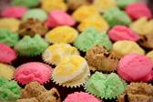 Steamed sponge cake in mini-cupcake wrappers