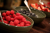 Fresh raspberries, blueberries, and strawberries. Perfect for a hot day!