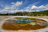 Beauty Pool at Yellowstone National Park in Wyoming.