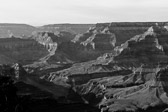 Black and white image at Grand Canyon National Park in Arizona.