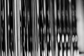 Black and white image of chimes.