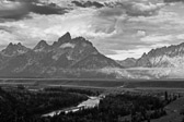 At Grand Tetons National Park, Snake River Overlook in Wyoming.