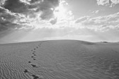 Image of steps in the sand dunes from White Sands National Monument in Alamogordo, New Mexico from White Sands National Monument in Alamogordo, New Mexico