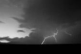 Lightning strike in the New Mexico desert.