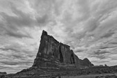 Black and white image at Arches National Park near Moab, Utah.