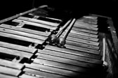Xylophone in black and white