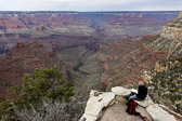 View of the Grand Canyon from Lookout Studio near the Kolb Studio in Grand Canyon National Park.