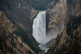 Lower Yellowstone Falls from near Artist Point in the Grand Canyon area of Yellowstone National Park in Wyoming